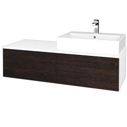 Dřevojas - Koupelnová skříňka MODULE SZZ12 120 - N01 Bílá lesk / D08 Wenge / Levé (315047)