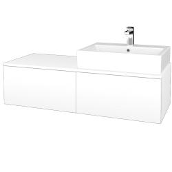 Dřevojas - Koupelnová skříňka MODULE SZZ12 120 - N01 Bílá lesk / L01 Bílá vysoký lesk / Levé (315191)