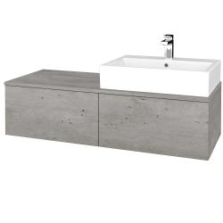Dřevojas - Koupelnová skříňka MODULE SZZ12 120 - D01 Beton / D01 Beton / Pravé (315252P)