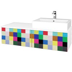 Dřevojas - Koupelnová skříňka MODULE SZZ12 120 - N01 Bílá lesk / IND Individual / Pravé (315597P)