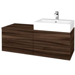 Dřevojas - Koupelnová skříňka MODULE SZZ4 120 - D06 Ořech / D06 Ořech / Levé (315771)