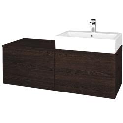 Dřevojas - Koupelnová skříňka MODULE SZZ4 120 - D08 Wenge / D08 Wenge / Levé (315788)