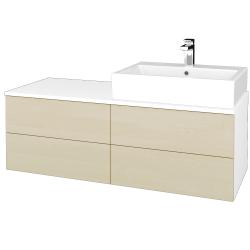 Dřevojas - Koupelnová skříňka MODULE SZZ4 120 - N01 Bílá lesk / D02 Bříza / Levé (315931)
