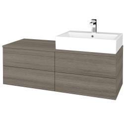 Dřevojas - Koupelnová skříňka MODULE SZZ4 120 - D03 Cafe / D03 Cafe / Pravé (316211P)