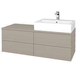 Dřevojas - Koupelnová skříňka MODULE SZZ4 120 - L04 Béžová vysoký lesk / L04 Béžová vysoký lesk / Pravé (316358P)