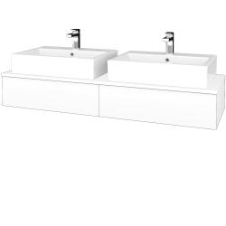 Dřevojas - Koupelnová skříňka MODULE SZZ2 140 - N01 Bílá lesk / L01 Bílá vysoký lesk (317072)