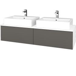 Dřevojas - Koupelnová skříňka MODULE SZZ12 140 - N01 Bílá lesk / N06 Lava (317515)
