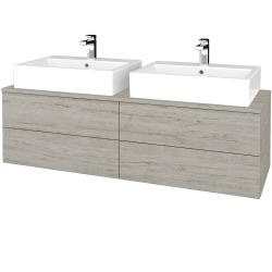 Dřevojas - Koupelnová skříňka MODULE SZZ4 140 - D05 Oregon / D05 Oregon (317645)