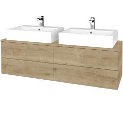 Dřevojas - Koupelnová skříňka MODULE SZZ4 140 - D09 Arlington / D09 Arlington (317676)