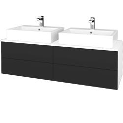 Dřevojas - Koupelnová skříňka MODULE SZZ4 140 - N01 Bílá lesk / N03 Graphite (317973)