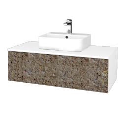 Dřevojas - Koupelnová skříňka MODULE SZZ1 100 - N01 Bílá lesk / J01 Organic (318697)