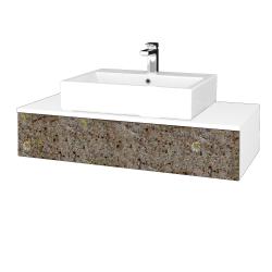 Dřevojas - Koupelnová skříňka MODULE SZZ 100 - N01 Bílá lesk / J01 Organic (319298)