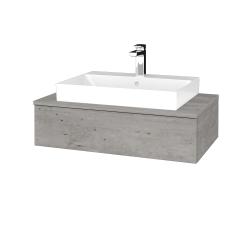 Dřevojas - Koupelnová skříňka MODULE SZZ 80 - D01 Beton / D01 Beton (332686)
