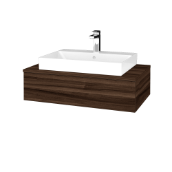 Dřevojas - Koupelnová skříňka MODULE SZZ 80 - D06 Ořech / D06 Ořech (332730)