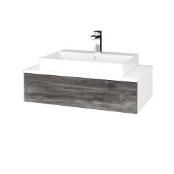 Dřevojas - Koupelnová skříňka MODULE SZZ 80 - N01 Bílá lesk / D10 Borovice Jackson (332969)