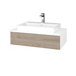 Dřevojas - Koupelnová skříňka MODULE SZZ 80 - N01 Bílá lesk / D17 Colorado (332990)