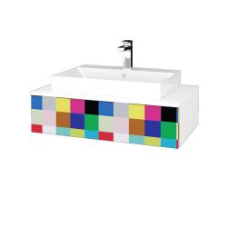 Dřevojas - Koupelnová skříňka MODULE SZZ 80 - N01 Bílá lesk / IND Individual (333027)