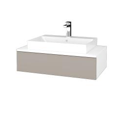 Dřevojas - Koupelnová skříňka MODULE SZZ 80 - N01 Bílá lesk / N07 Stone (333072)