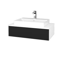 Dřevojas - Koupelnová skříňka MODULE SZZ 80 - N01 Bílá lesk / N08 Cosmo (333089)