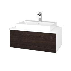 Dřevojas - Koupelnová skříňka MODULE SZZ1 80 - N01 Bílá lesk / D08 Wenge (333416)