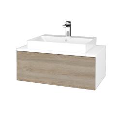 Dřevojas - Koupelnová skříňka MODULE SZZ1 80 - N01 Bílá lesk / D17 Colorado (333461)