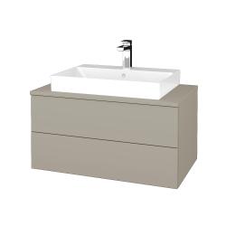 Dřevojas - Koupelnová skříňka MODULE SZZ2 80 - L04 Béžová vysoký lesk / L04 Béžová vysoký lesk (333782)