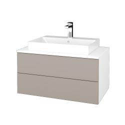 Dřevojas - Koupelnová skříňka MODULE SZZ2 80 - N01 Bílá lesk / N07 Stone (334017)