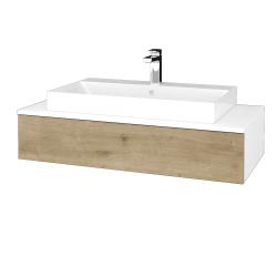 Dřevojas - Koupelnová skříňka MODULE SZZ 100 - N01 Bílá lesk / D09 Arlington (334369)