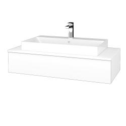 Dřevojas - Koupelnová skříňka MODULE SZZ 100 - N01 Bílá lesk / L01 Bílá vysoký lesk (334505)