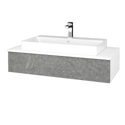 Dřevojas - Koupelnová skříňka MODULE SZZ 100 - N01 Bílá lesk / D20 Galaxy (334543)
