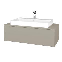 Dřevojas - Koupelnová skříňka MODULE SZZ1 100 - L04 Béžová vysoký lesk / L04 Béžová vysoký lesk (334802)