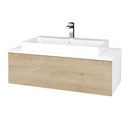 Dřevojas - Koupelnová skříňka MODULE SZZ1 100 - N01 Bílá lesk / D15 Nebraska (334932)