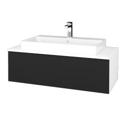 Dřevojas - Koupelnová skříňka MODULE SZZ1 100 - N01 Bílá lesk / L03 Antracit vysoký lesk (334994)