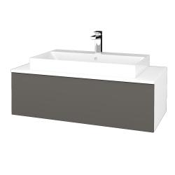 Dřevojas - Koupelnová skříňka MODULE SZZ1 100 - N01 Bílá lesk / N06 Lava (335021)
