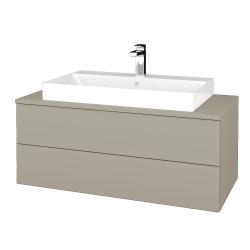 Dřevojas - Koupelnová skříňka MODULE SZZ2 100 - M05 Béžová mat / M05 Béžová mat (335274)