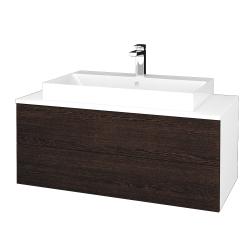 Dřevojas - Koupelnová skříňka MODULE SZZ2 100 - N01 Bílá lesk / D08 Wenge (335403)
