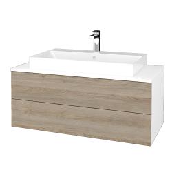 Dřevojas - Koupelnová skříňka MODULE SZZ2 100 - N01 Bílá lesk / D17 Colorado (335458)