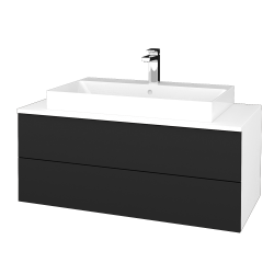 Dřevojas - Koupelnová skříňka MODULE SZZ2 100 - N01 Bílá lesk / L03 Antracit vysoký lesk (335496)
