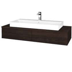 Dřevojas - Koupelnová skříňka MODULE SZZ2 120 - D08 Wenge / D08 Wenge (335694)