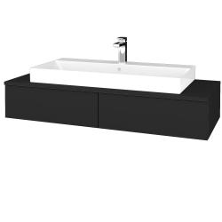 Dřevojas - Koupelnová skříňka MODULE SZZ2 120 - L03 Antracit vysoký lesk / L03 Antracit vysoký lesk (335786)