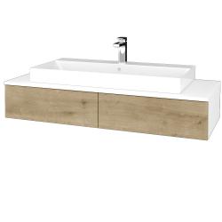 Dřevojas - Koupelnová skříňka MODULE SZZ2 120 - N01 Bílá lesk / D09 Arlington (335908)