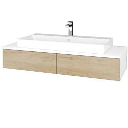Dřevojas - Koupelnová skříňka MODULE SZZ2 120 - N01 Bílá lesk / D15 Nebraska (335922)