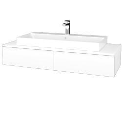 Dřevojas - Koupelnová skříňka MODULE SZZ2 120 - N01 Bílá lesk / M01 Bílá mat (335953)