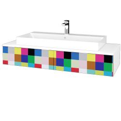 Dřevojas - Koupelnová skříňka MODULE SZZ2 120 - N01 Bílá lesk / IND Individual (335977)