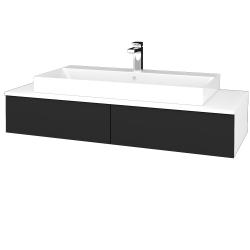 Dřevojas - Koupelnová skříňka MODULE SZZ2 120 - N01 Bílá lesk / L03 Antracit vysoký lesk (335984)