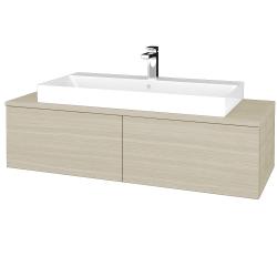 Dřevojas - Koupelnová skříňka MODULE SZZ12 120 - D04 Dub / D04 Dub (336172)