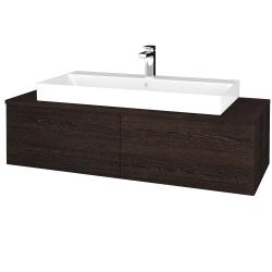 Dřevojas - Koupelnová skříňka MODULE SZZ12 120 - D08 Wenge / D08 Wenge (336202)