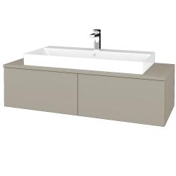 Dřevojas - Koupelnová skříňka MODULE SZZ12 120 - L04 Béžová vysoký lesk / L04 Béžová vysoký lesk (336301)