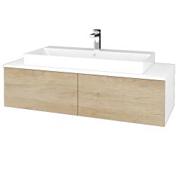 Dřevojas - Koupelnová skříňka MODULE SZZ12 120 - N01 Bílá lesk / D15 Nebraska (336431)