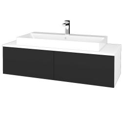 Dřevojas - Koupelnová skříňka MODULE SZZ12 120 - N01 Bílá lesk / N03 Graphite (336516)